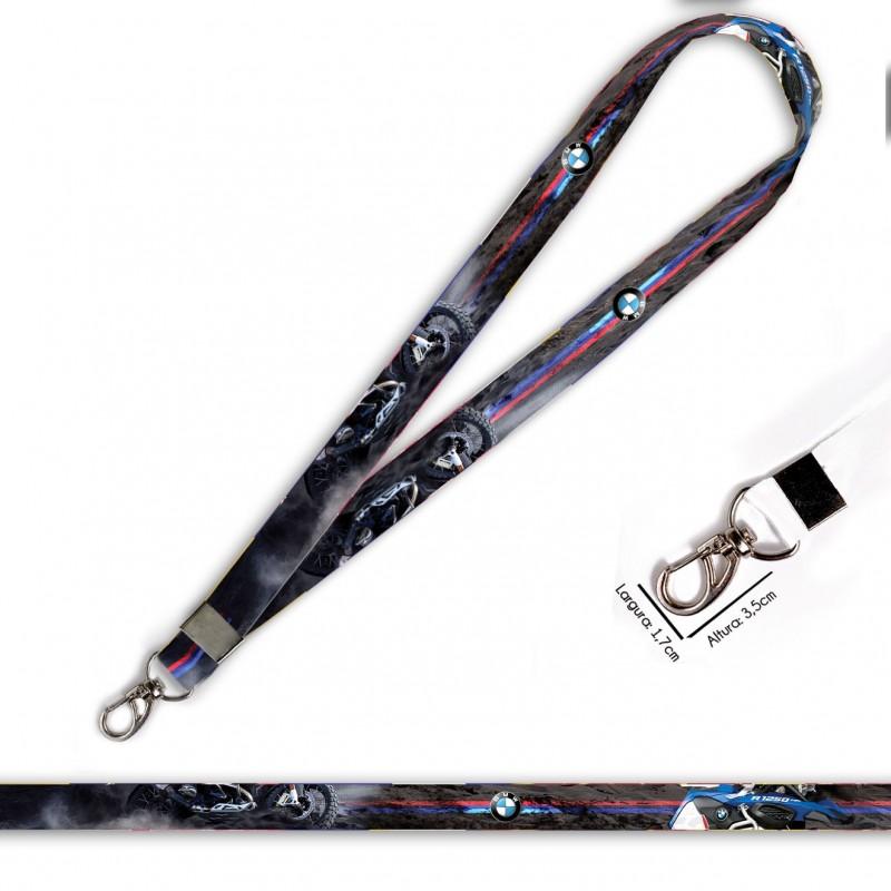 Cordão para Crachá ou Chaveiro carnival row C0466P com Mosquetão e Fecho Bolsa (Engate Rápido)