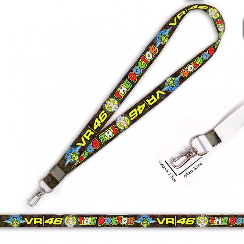 Cordão para Crachá ou Chaveiro Oakley C0500P com Mosquetão e Fecho Bolsa (Engate Rápido)