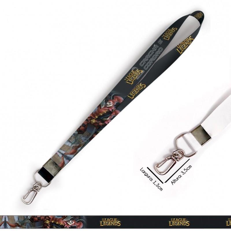 Cordão para Crachá ou Chaveiro ichigo Kurosaki C0542P com Mosquetão e Fecho Bolsa (Engate Rápido)