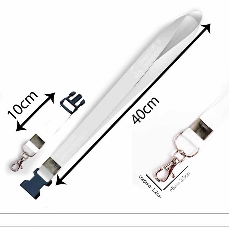 Cordão para Crachá ou Chaveiro Angular Framework C0545P com Mosquetão e Fecho Bolsa (Engate Rápido)