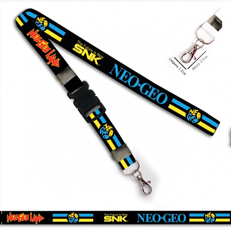 Chaveiro Neo Geo The Future SNK C0549P com Mosquete e Engate