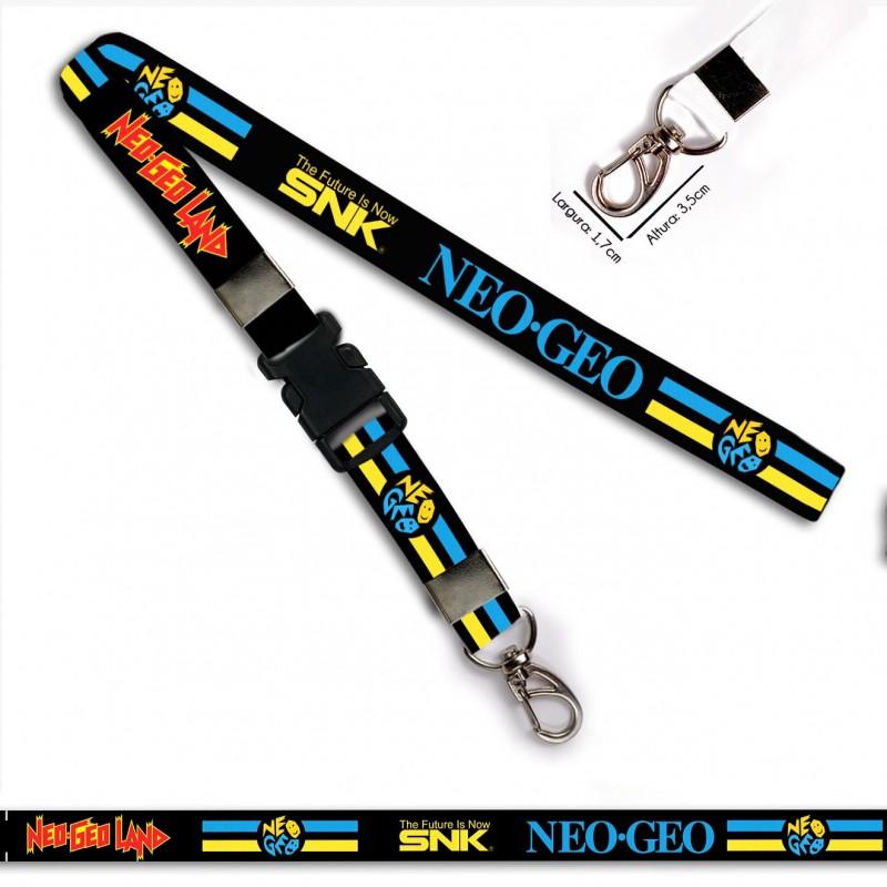 Chaveiro Neo Geo The Future SNK C0549P Mosquetão e Engate