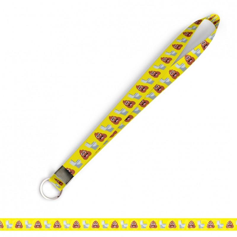 Cordão Cordão Divertido Cocô Vaso Emoticons C0551P Argola Italiana
