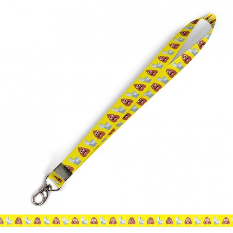 Cordão para Crachá ou Chaveiro Coelhinhos C0580P com Mosquetão e Fecho Bolsa (Engate Rápido)