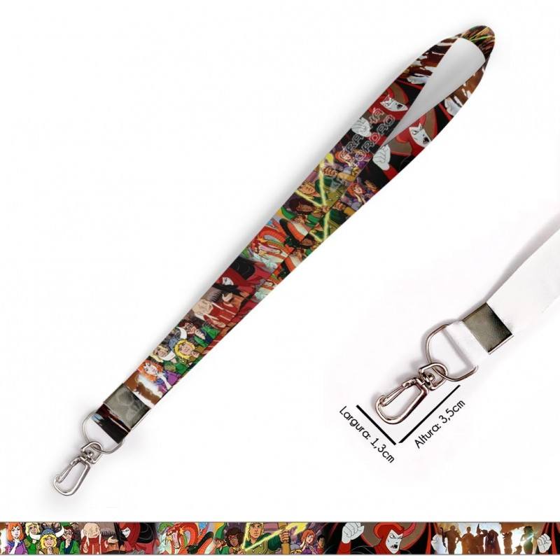 Cordão para Crachá ou Chaveiro Mickey C0004P com Mosquete Giratório