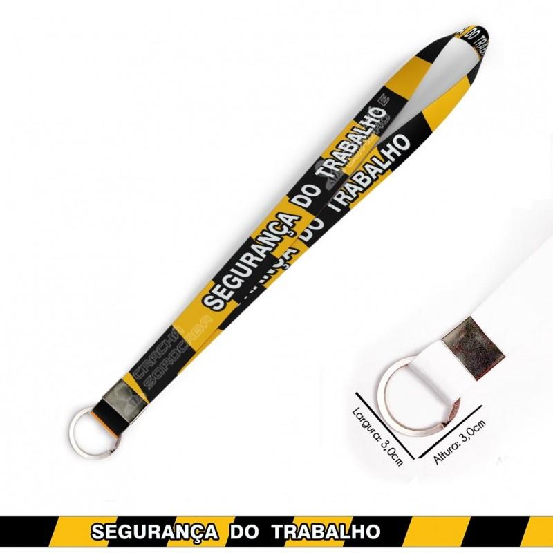 Cordão para Crachá ou Chaveiro Filmes Telecine C0103P com Mosquete Giratório