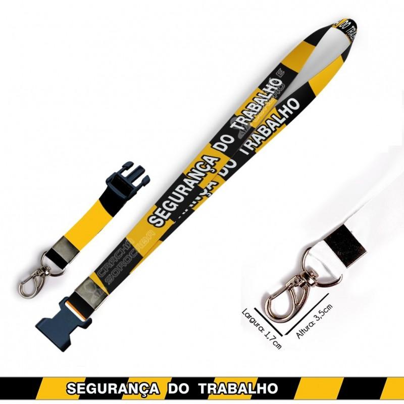 Cordão para Crachá ou Chaveiro Harry Potter Grifinoria C0105P com Mosquete Giratório