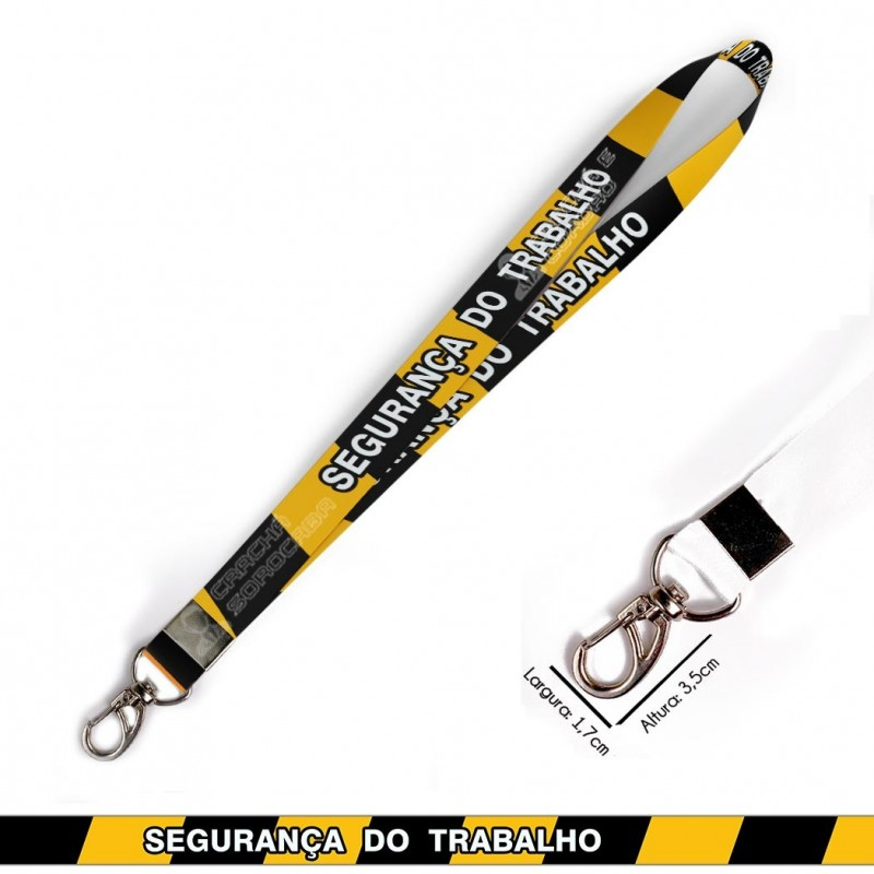Cordão para Crachá ou Chaveiro Ronald Weaslie Harry Potter Grifinoria C0107P com Mosquete Giratório