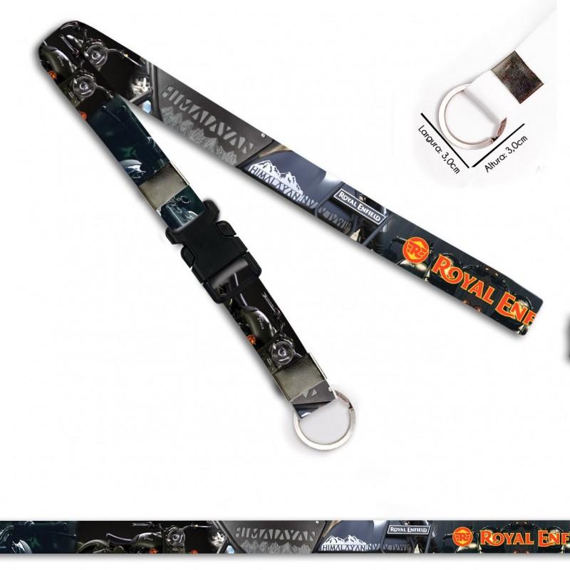 Cordão para Crachá ou Chaveiro Itachi Uchiha Naruto C0113P com Mosquete Giratório