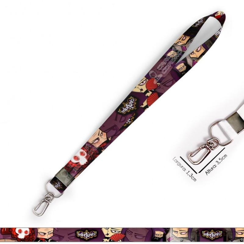 Cordão para Crachá ou Chaveiro Juízes das Trevas - Cavaleiro do Zodiaco C0306P com Mosquete Giratório