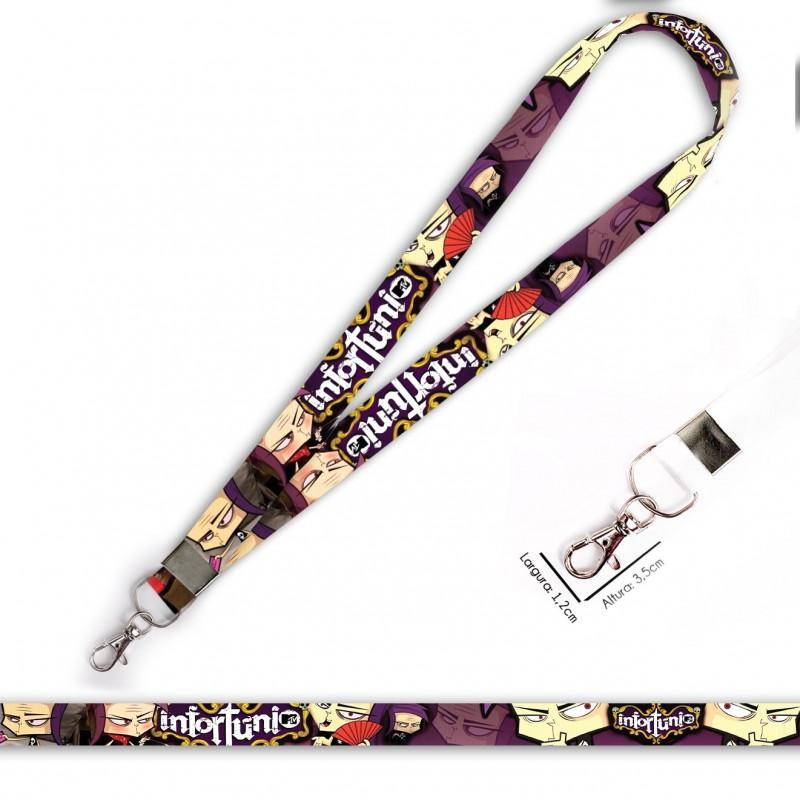 Cordão para Crachá ou Chaveiro Harry Potter - Grifinória C0311P com Mosquete Giratório