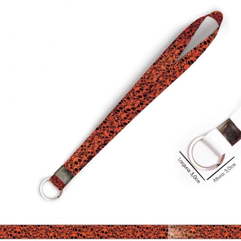 Cordão para Crachá ou Chaveiro Patinhas Rosa C0331P com Mosquete Giratório