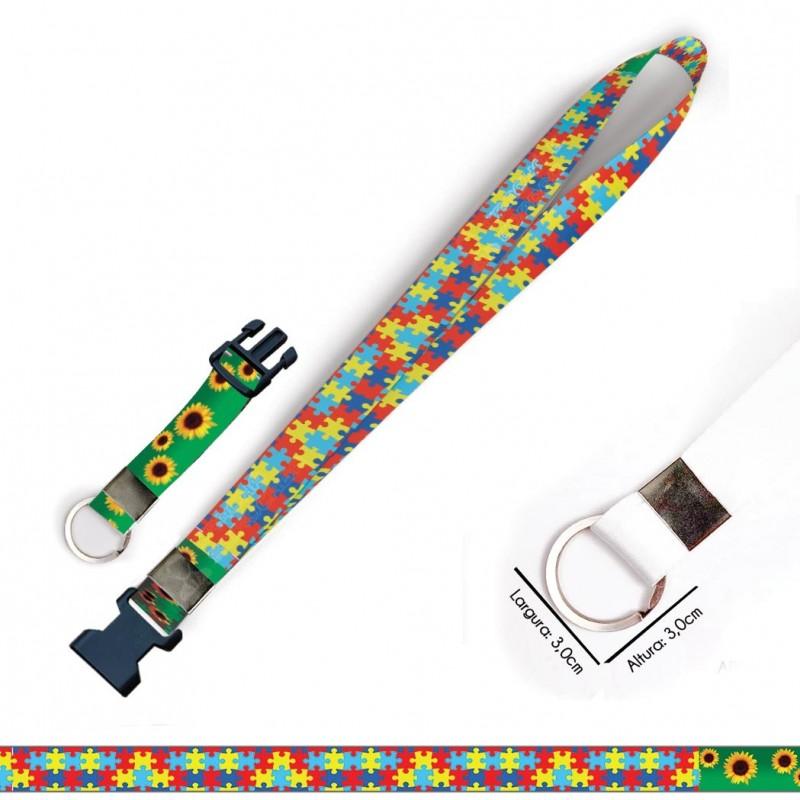 Cordão para Crachá ou Chaveiro Skol Beats Secret C0342P com Mosquete Giratório