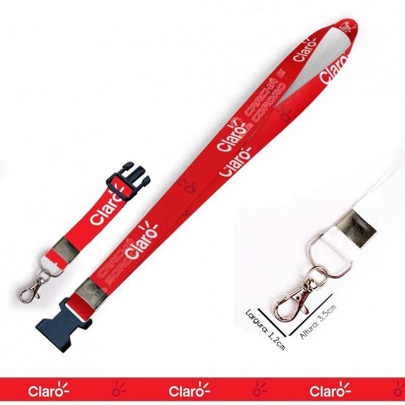 Chaveiro Claro C0623P com Mosquete e Engate Rápido