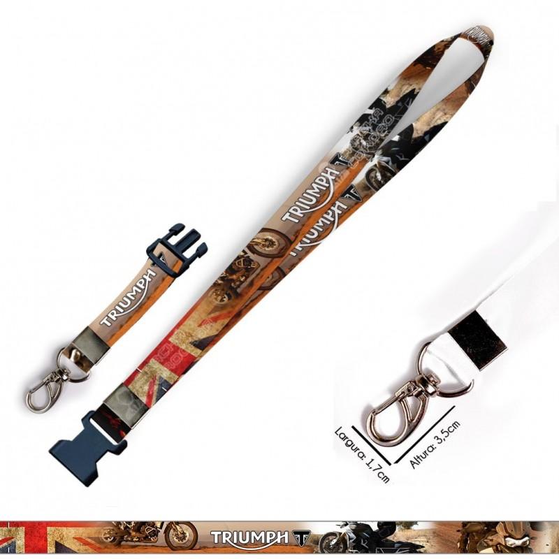 Cordão para Crachá ou Chaveiro Harry Potter Hufflepuff C0362P com Mosquete Giratório
