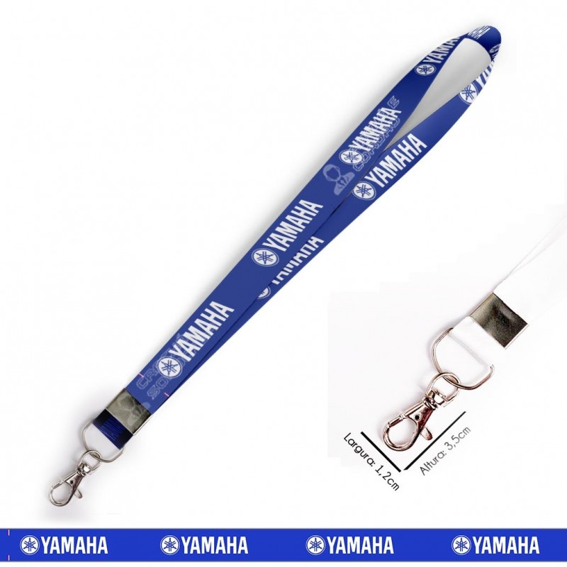Cordão Yamaha - Azul C0628P com Mosquete