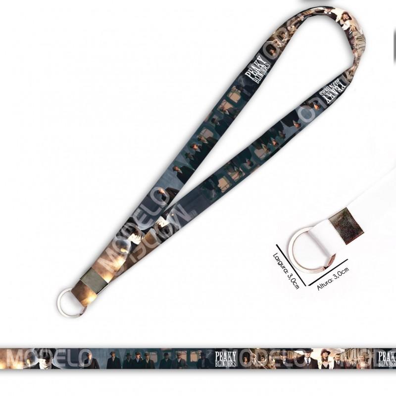 Cordão para Crachá ou Chaveiro Factor 150 Yamaha C0562P com Mosquete Giratório