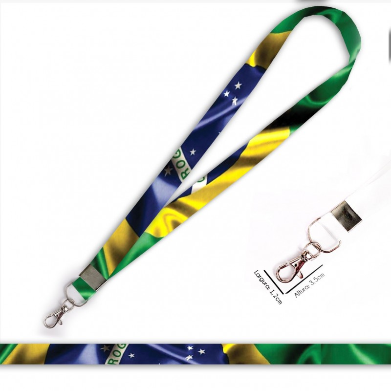 Cordão Bandeira Brasil C0688P com Mosquete