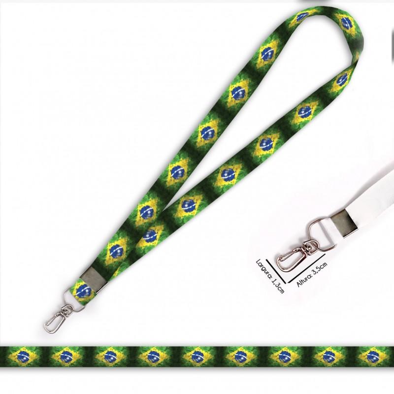 Cordão Bandeira Brasil C0689P com Mosquete Retrô