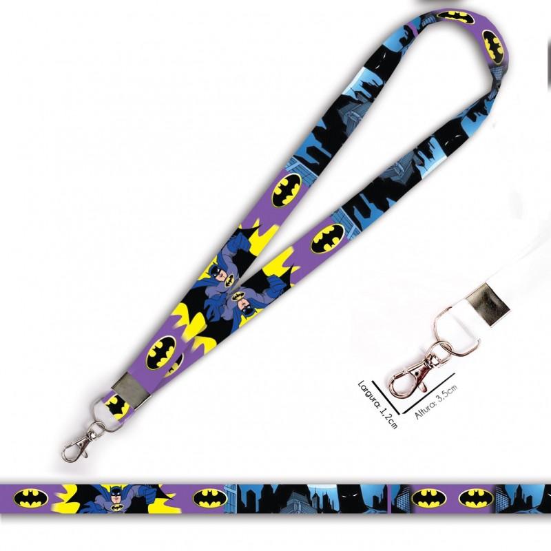 Cordão Batman Desenho Roxo C0694P com Mosquete