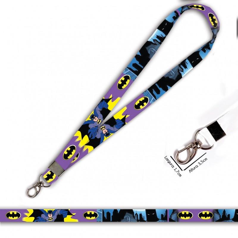 Cordão Batman Desenho Roxo C0694P com Mosquetão