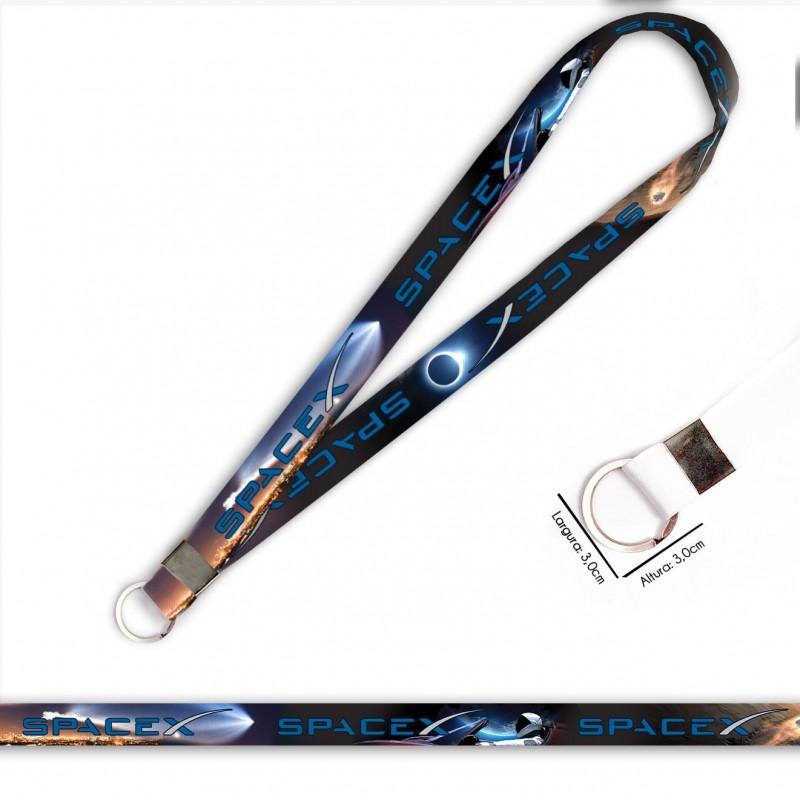 Cordão para Crachá ou Chaveiro Dragon Ball Brolly C0181P com Mosquete Giratório e Fecho Bolsa (Engate Rápido)