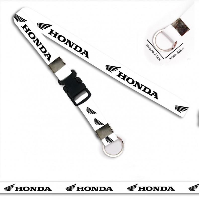 Chaveiro para Moto HONDA BRANCO C0718P Argola Italiana Engate