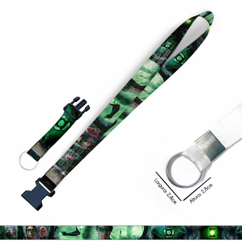 Lanterna Verde C0621P Cordão, Chaveiro Moto Argola Engate