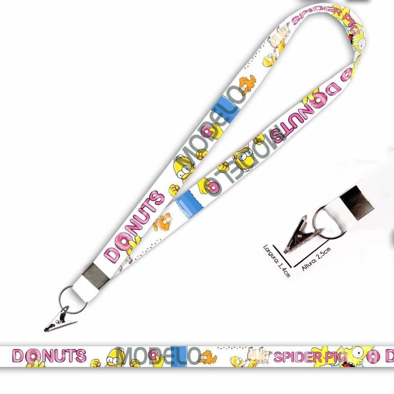 Cordão para Crachá ou Chaveiro Sailor Moon C0506P com Argola Italiana Prata
