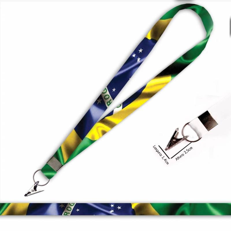 Bandeira Brasil C0688P Cordão com Jacaré