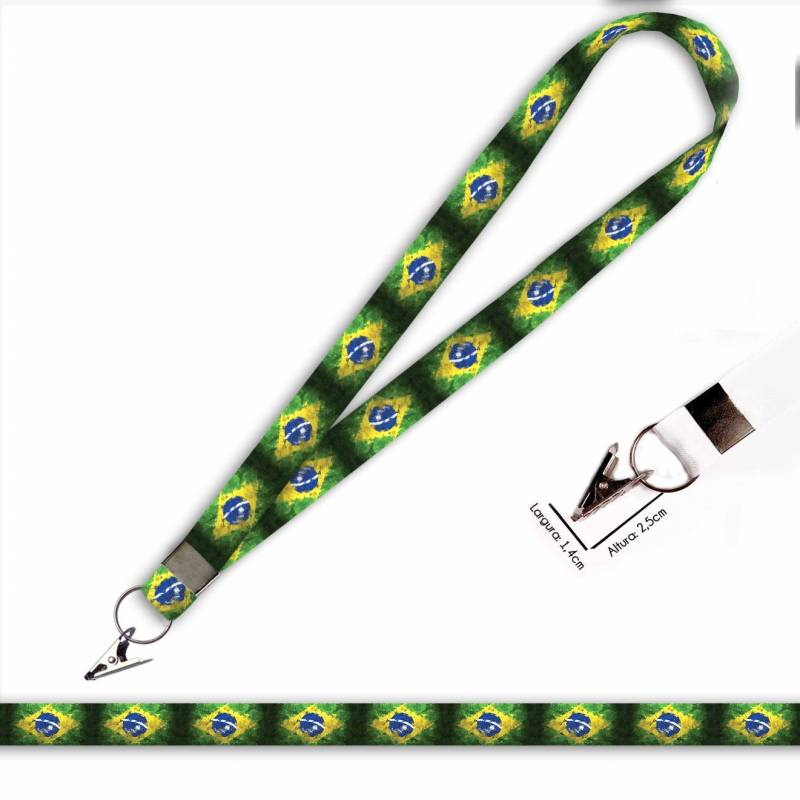 Bandeira Brasil C0689P Cordão com Jacaré