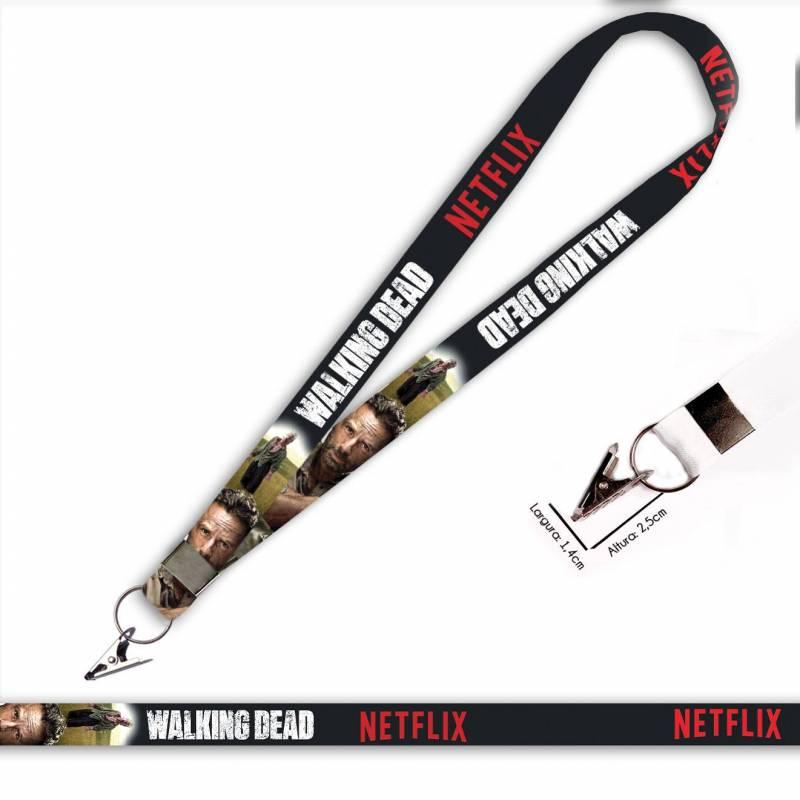 Walking Dead Rick C0090P Cordão com Jacaré