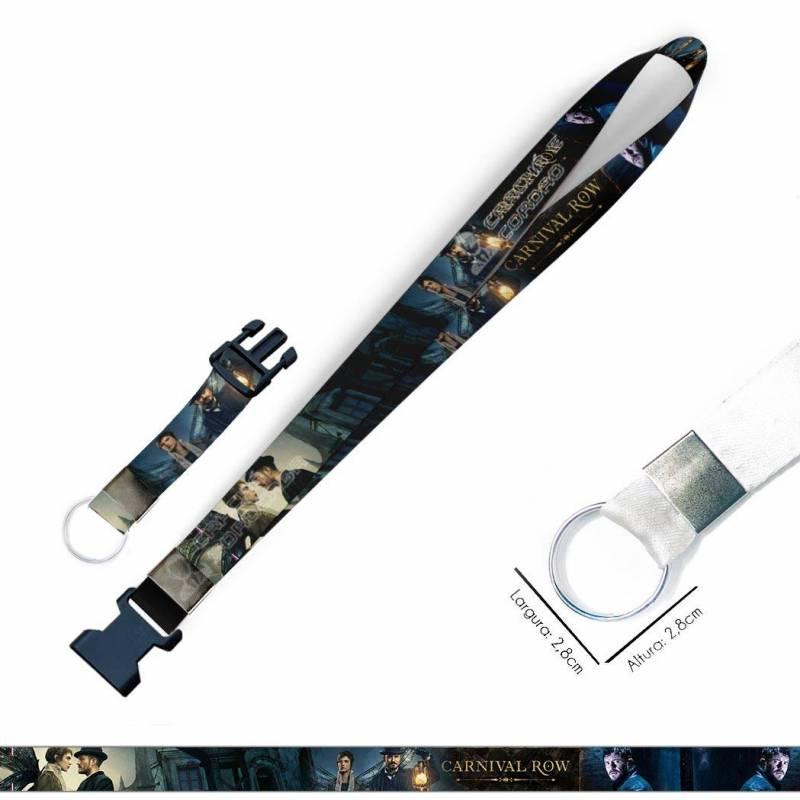 Cordão para Chaveiro ou Motos Harry Potter Corvinal C0234P com Argola Italiana Prata