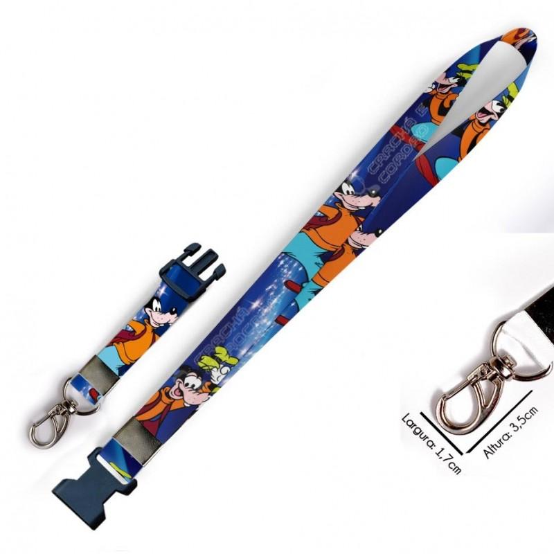 Chaveiro Pateta Disney C0022P com Mosquetão e Engate Rápido
