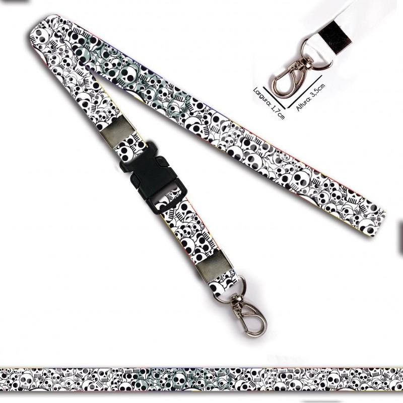 Cordão para Chaveiro ou Motos Princesa também usam Capacete C0566P com Argola Italiana Prata