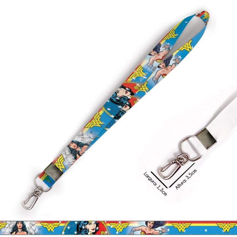 Cordão para Crachá Coracoes Coloridos C0071P com Garra Tipo Jacaré