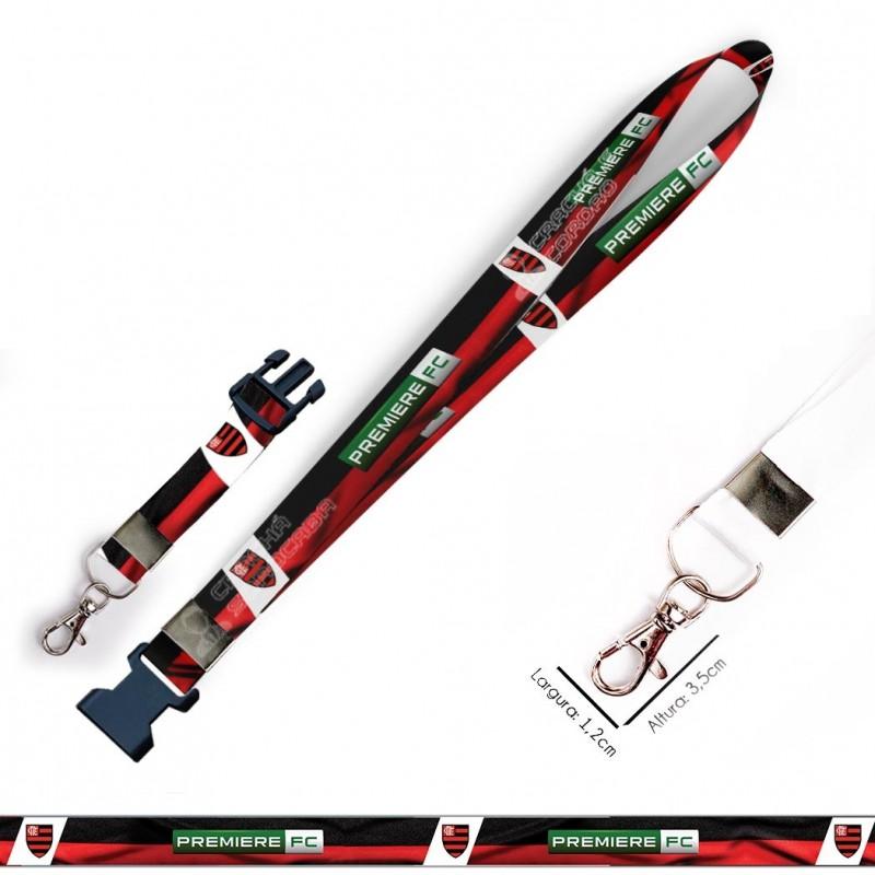 Cordão para Crachá Torcida Mancha Verde C0083P com Garra Tipo Jacaré
