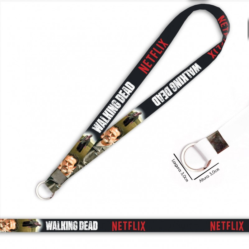 Cordão Walking Dead Negan C0088P com Argola Italiana