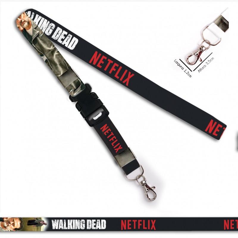 Chaveiro Walking Dead Negan C0088P com Mosquete e Engate