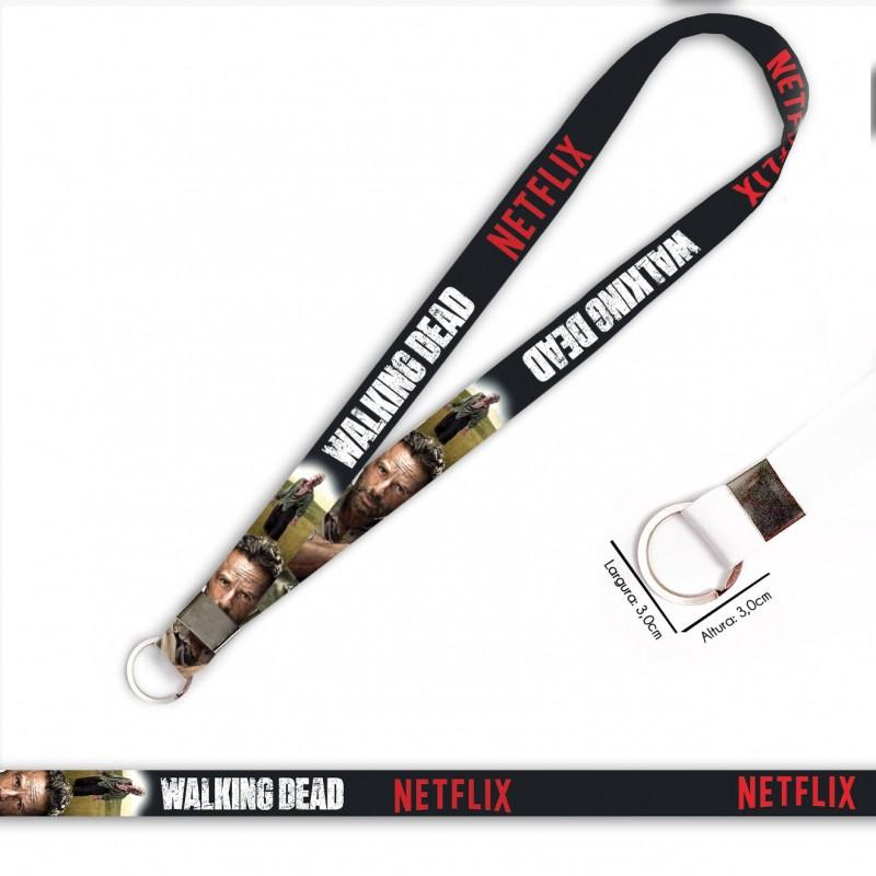 Cordão Walking Dead Rick C0090P com Argola Italiana