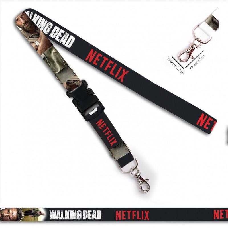 Chaveiro Walking Dead Rick C0090P com Mosquete e Engate