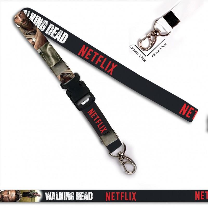 Chaveiro Walking Dead Rick C0090P com Mosquetão e Engate