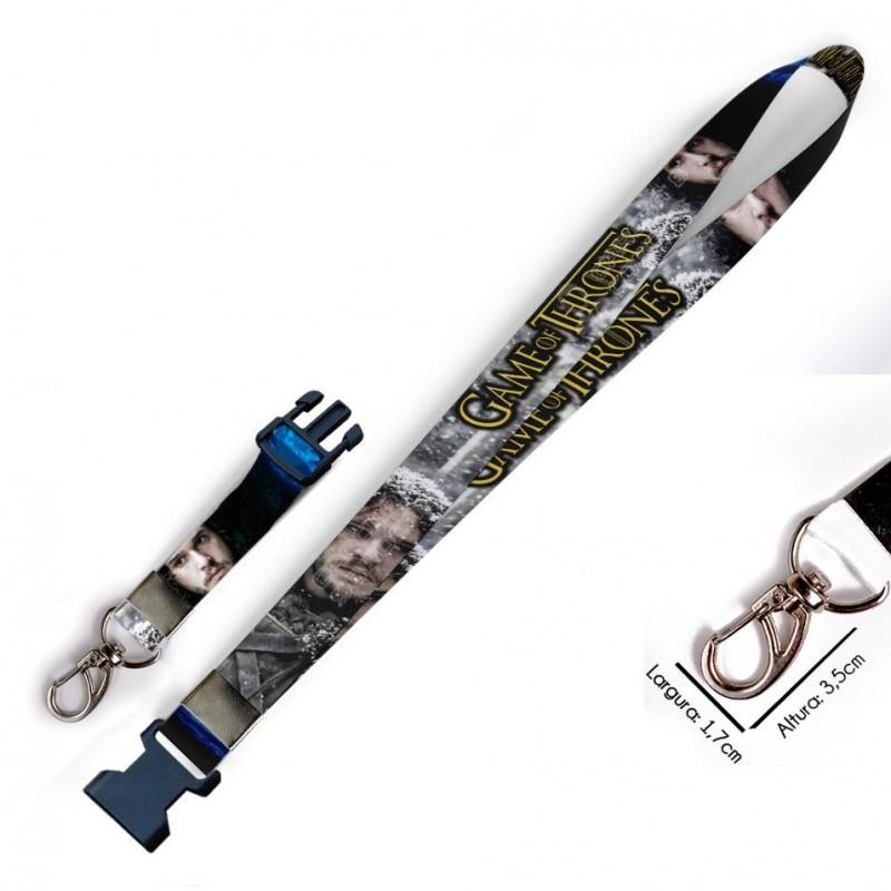 Cordão para Crachá Cordão Divertido Emoticons Cocô e Vaso C0552P com Garra Tipo Jacaré