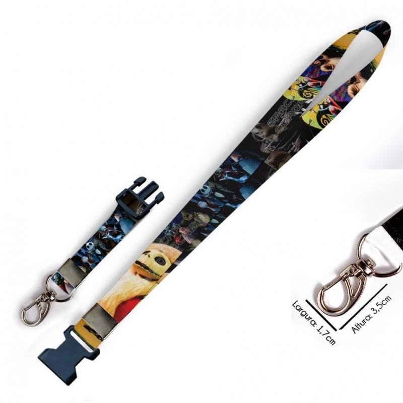 Cordão para Crachá Ronald Weaslie Harry Potter Grifinoria C0107P com Garra Tipo Jacaré e fecho bolsa tipo Engate rápido