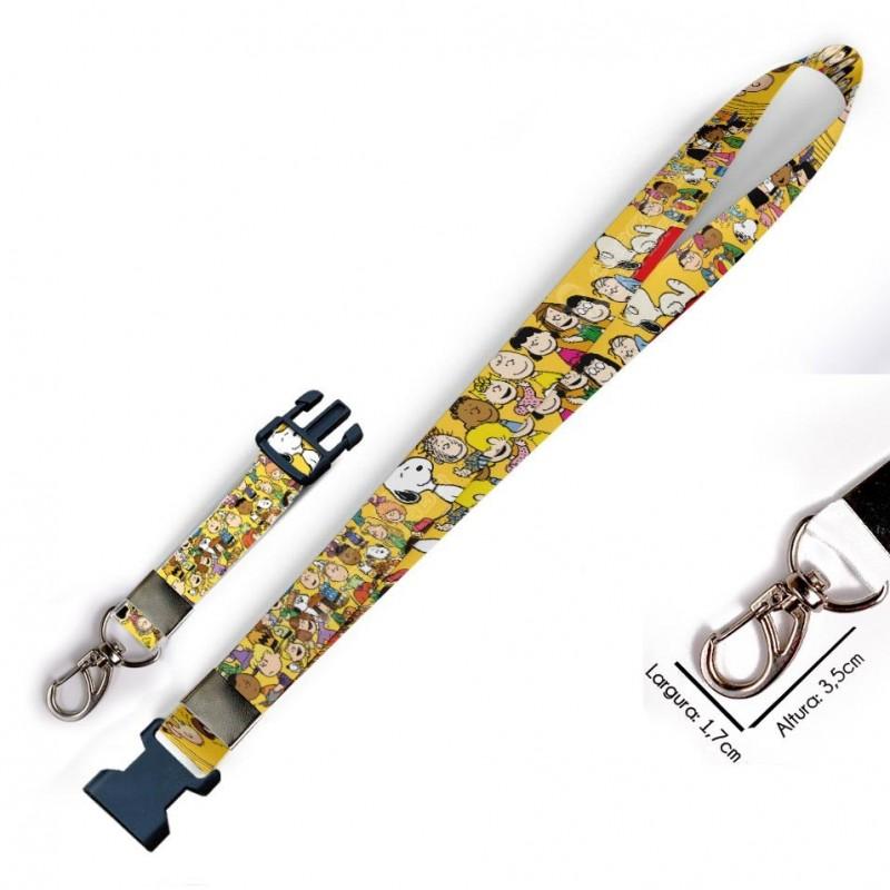 Cordão para Crachá Looney Tunes C0154P com Garra Tipo Jacaré e fecho bolsa tipo Engate rápido