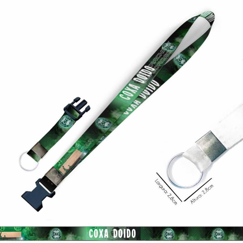 Cordão para Crachá ou Chaveiro Cachorros C0073P com Argola Italiana Prata