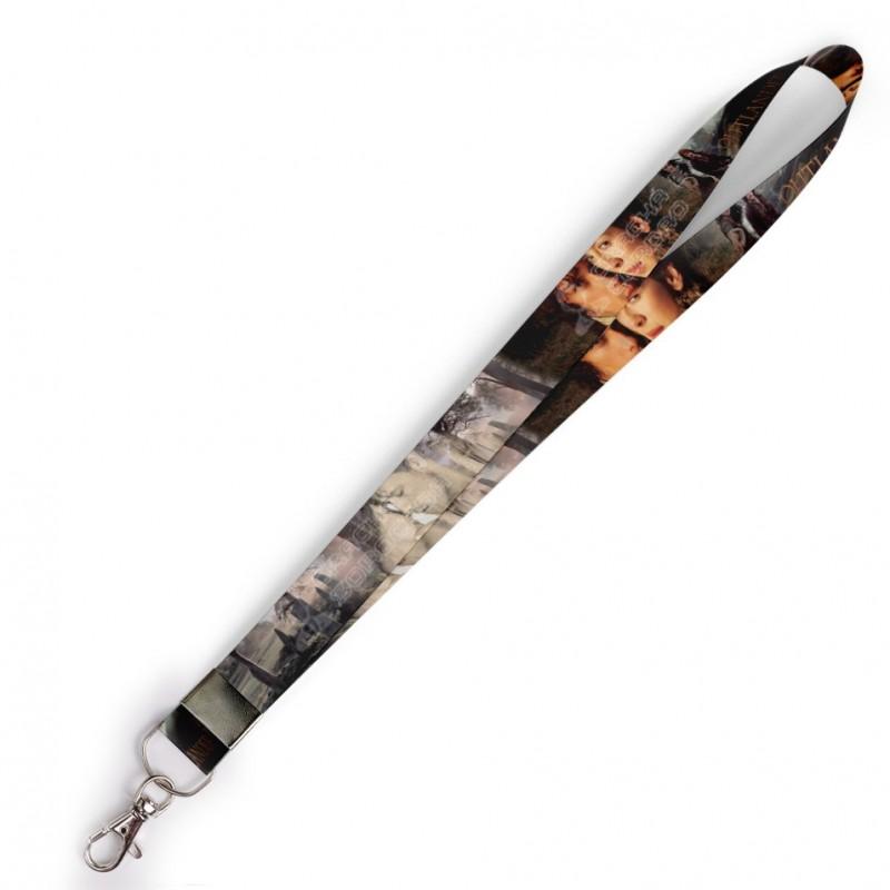 Cordão para Crachá INFRAERO C0223P com Garra Tipo Jacaré e fecho bolsa tipo Engate rápido