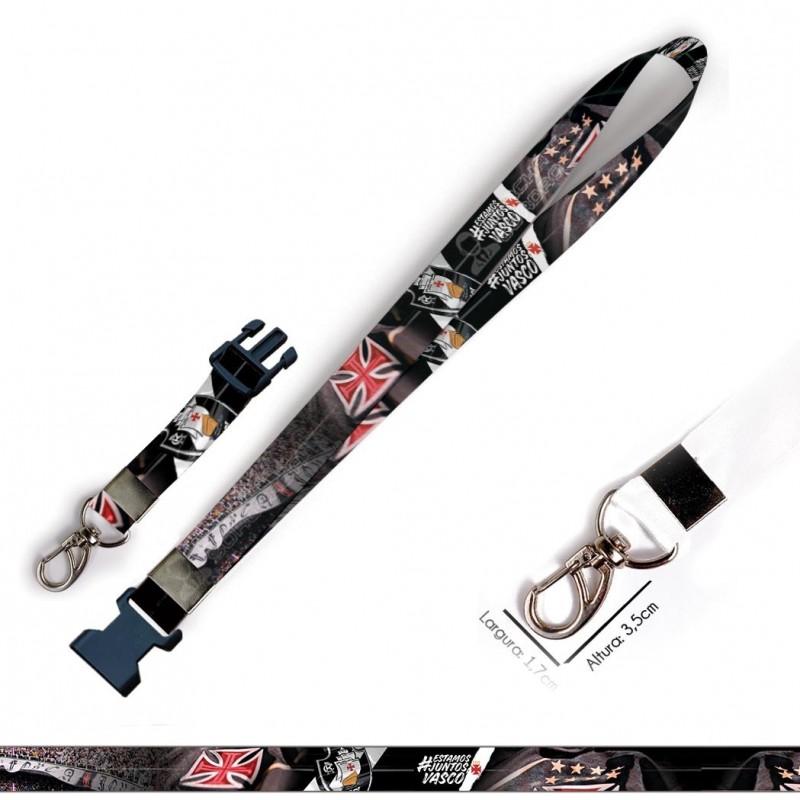 Cordão para Crachá Cavaleiros de Bronze C0302P com Garra Tipo Jacaré e fecho bolsa tipo Engate rápido