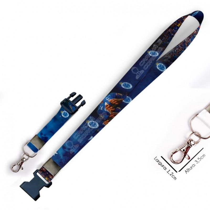 Cordão para Crachá Coringa Joker C0334P com Garra Tipo Jacaré e fecho bolsa tipo Engate rápido
