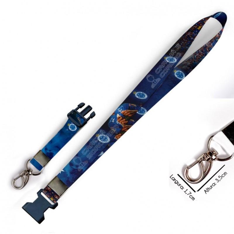 Cordão para Crachá Coringa Joker C0335P com Garra Tipo Jacaré e fecho bolsa tipo Engate rápido